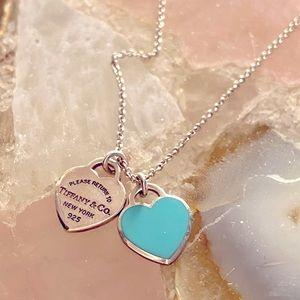 Tiffany Blue Double Heart Pendant